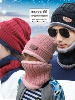 หมวกไหมพรม&ผ้าพันคอ 3in1