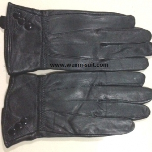 ถุงมือหนังแพะแท้หญิง รุ่นกระดุม ทัชสกรีนได้ งานพรีเมี่ยม