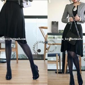 ถุงน่องคลุมปลายเท้า สีดำวิ้ง งานนำเข้าเกาหลี