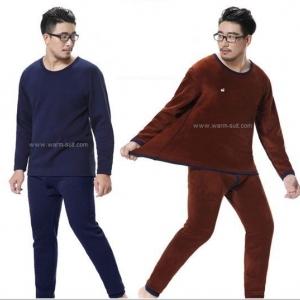 ชุดลองจอนชายบุผ้าดับเบิ้ลวูลพรีเมี่ยมสีกรมท่าเข้มอมดำ