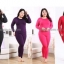 ลองจอนหญิง บิ๊กไซด์ ลองจอนคนอ้วน บุเยื่อไผ่เอ็กซ์ตราพลัส สีม่วงเข้ม thumbnail 2