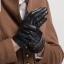 ถุงมือหนังแพะแท้ แต่งแถบกระดุม งานนำเข้า เกรดพรีเมี่ยม ทัชสกรีนได้ thumbnail 7