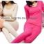 ชุดลองจอนหญิง รุ่นสเปเชี่ยล สีชมพูเข้ม วูลผสมเยื่อไผ่และขนอูฐ thumbnail 2